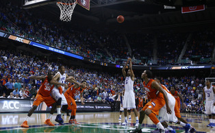 Rodney Hood knocked down a pair of free throws with 3.8 seconds left to give Duke a one-point win against Clemson.