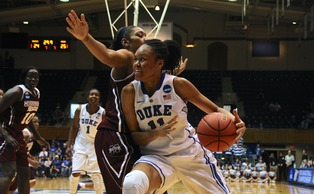 Freshman Azura Stevens recorded another double-double Sunday to push Duke past Mississippi State.