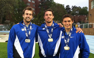 Robert Rohner, Ian Rock and Curtis Beach swept the podium in the men's decathlon at the ACC Championships, three of Duke's eight medalists during the three-day meet.