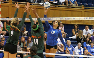Junior outside hitter Breanna Atkinson may return to the court Friday for the first time since Nov. 2.