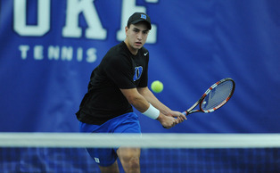 Freshman Nicolas Alvarez went 3-0 in singles and teamed with Raphael Hemmeler to finish 3-0 in doubles in the rookie's first appearance at the ITA Team Indoor Championships.