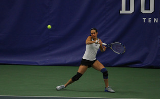 Junior Beatrice Capra is 3-3 in singles play this year and a combined 7-6 with three separate doubles partners.