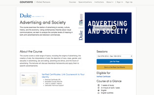 "William O'Barr, a professor of cultural anthropology, English and sociology, will begin offering his popular ""Advertising and Society"" course on Consera after Oct. 27."