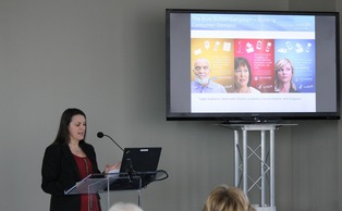 Health and Human Services representative Lana Moriarty spoke about the growing issue of consumer access to electronic health records at the Medical Center Thursday. | Special to The Chronicle