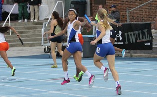 Sophomore Madeline Kopp (pictured) broke teammate Elizabeth Kerpon's Duke record in the 400-meter by three-tenths of a second last weekend.