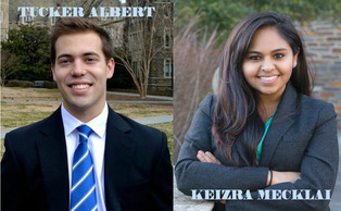 Juniors Tucker Albert and Keizra Mecklai have announced they are running for Duke Student Government president.