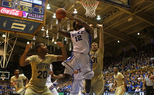 Playing at the four against Wofford, swingman Justise Winslow put up 16 first-half points.