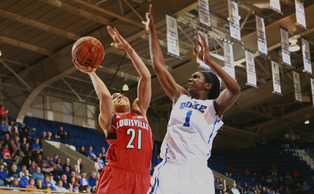Senior Elizabeth Williams had three blocks during Duke's crucial run, and overcame a slow start to finish a rebound shy of a double-double.