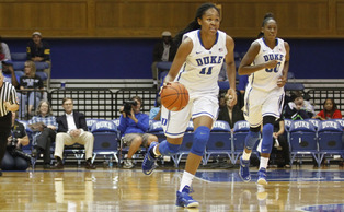 Duke freshman Azura Stevens will be one of the rookies Duke will call upon early and often this season.
