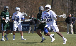 Junior Myles Jones scored four goals as the Blue Devils extended their home winning streak to 21 games.