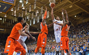 Freshman center Jahlil Okafor was named ACC Player of the Year Sunday afternoon.