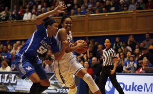 Freshman Azura Stevens scored 17 points to help Duke top then-No. 8 Kentucky, and will look to put together a similar performance against the No. 2 Huskies Monday night.