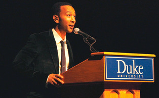 John Legend performs at last year's Black Student Alliance Invitational Weekend in Page Auditorium