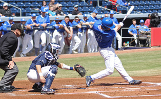 Andy Perez delivered the walk-off hit for the Blue Devils in the bottom of the ninth Sunday.
