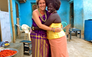 Whitney Arey, Trinity '12, is a current Peace Corps health volunteer in Ghana, who was inspired to join by her friendships at Duke.