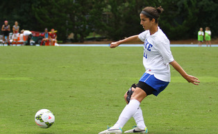 Redshirt senior midfielder Gilda Doria and the Blue Devils need to find a spark on offense this weekend to avoid falling into an 0-3 hole to start the season.