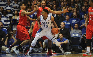 Duke freshman center Jahlil Okafor leads the Blue Devils with 17.7 points per game and will battle Wisconsin's Frank Kaminsky in Wednesday's top-5 matchup.