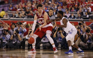 The defense Amile Jefferson played on Frank Kaminsky played a major role in Duke's national title win Monday night.