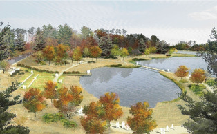 The pond is expected to be completed Summer 2014.