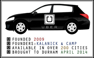 Though local cab companies have lost business, they are adjusting to Uber's popularity.