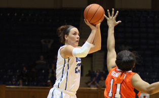 Redshirt freshman Rebecca Greenwell is averaging 14.0 points and 5.6 rebounds per game heading into the NCAA tournament.