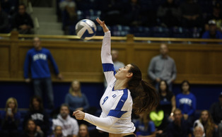 Junior Emily Sklar's 17 kills helped the Blue Devils topple No. 3 Florida State Thursday at Cameron Indoor Stadium.