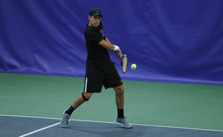 Freshman Nicolas Alvarez and the Blue Devils qualified for the ITA Men's Team Indoor Championship with Saturday sweep.
