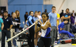 Megan Clark captured the outdoor gold in the pole vault after winning the indoor gold earlier this year.