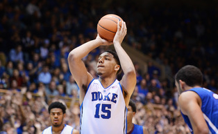 Duke freshman center Jahlil Okafor is averaging 17.7 points per game and will look to continue his early success against Frank Kaminsky and No. 2 Wisconsin Wednesday.