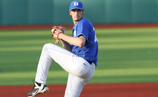 Junior Michael Matuella will take the mound for the Blue Devils in the series opener against Georgia Tech.