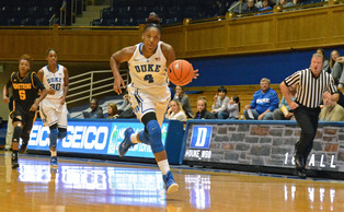Freshman Sierra Calhoun is one of the Blue Devil rookies to have thrived early on this year.