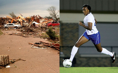 Duke athletics has helped fundraising for the rebuilding efforts of junior defender Anastasia Hunt, whose home was destroyed in the Moore, Okla., tornado in May.