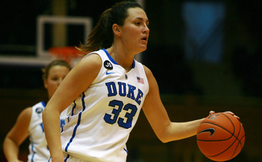 Senior Haley Peters led Duke with 17 points as the Blue Devils bounced back from a slow start to knock off Clemson.