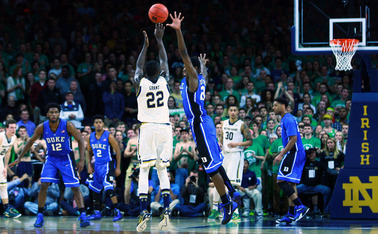 Despite leading down the stretch, the game slipped away from Duke late in the second half as Jerian Grant poured in a game-high 23 points to lead the Fighting Irish.