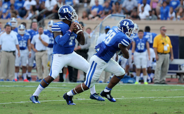 Redshirt senior quarterback Anthony Boone threw for 247 yards and four touchdowns in Duke's 52-13 victory against Elon.