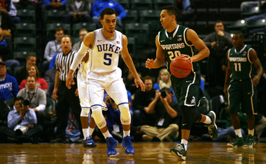 Senior guard Travis Trice is averaging 19.8 points per game in the NCAA tournament and will be the Spartans go-to offensive threat against Duke.