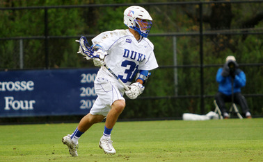 Senior Jordan Wolf tallied six goals and added a pair of assists as Duke routed Rutgers 17-8 on Senior Day at Koskinen Stadium.