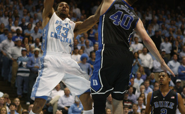 North Carolina's front line dominated the inside in Duke's loss to the Tar Heels Feb. 20.