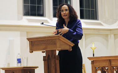 "Brown University professor Tricia Rose spoke about ""inclusive racism"" at Duke Thursday as the Reggie Day keynote speaker."