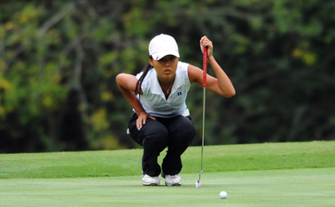 Born in South Korea, freshman Sandy Choi played her high school golf in San Diego before coming to Duke.
