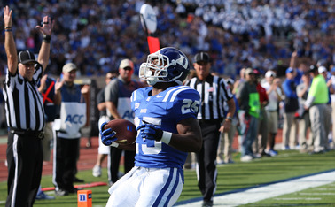 Sophomore Jela Duncan is Duke's leading rusher as the team is having its most successful season on the ground since 1977.