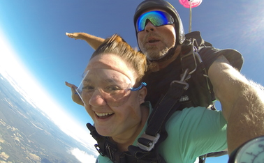 Carleigh Stiehm jumps from her 11,000-ft summit