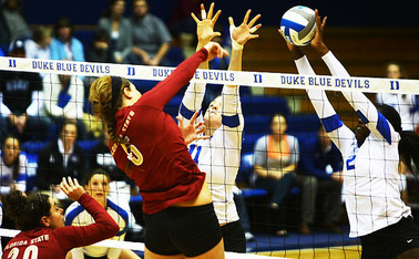 Despite sophomore Jeme Obeime and senior Christiana Gray's efforts on the net, the Blue Devils fell to Florida State in all three sets.
