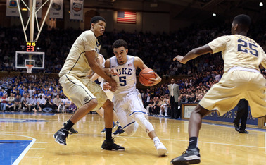 Freshman point guard Tyus Jones sparked Duke's comeback against North Carolina Feb. 18 and will look to control tempo again Saturday night.