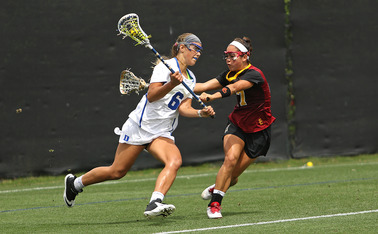 Senior Brigid Smith was one of four Blue Devils to register a hat trick Sunday.