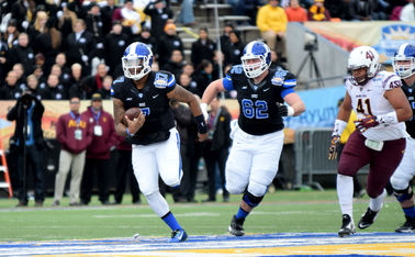 Redshirt senior Anthony Boone closes his Duke career with a 19-3 regular-season record, making him the winningest quarterback in Blue Devil history.