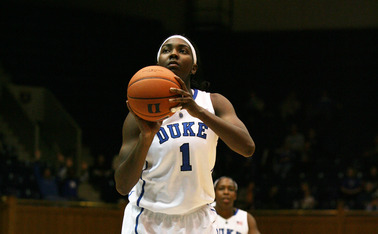 Junior center Elizabeth Williams sunk a free throw with 1.7 seconds remaining to give Duke a 76-75 road win against Miami and keep the Blue Devils undefeated in ACC play.