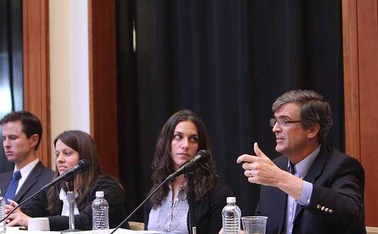 In an event Wednesday at the Sanford School of Public Policy,  a panel of experts discusses the question: who does the government work for?