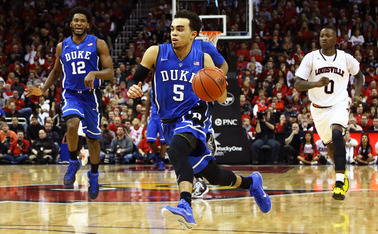Point guard Tyus Jones is expected to be drafted in the middle stages of the first round Thursday night.