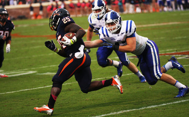 Senior running back Kevin Parks has been held in check by the Blue Devils in past years, as he has averaged just 67.3 yards per game against Duke.
